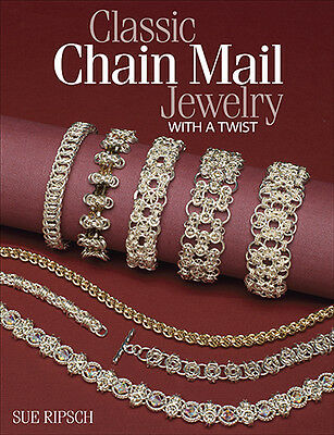 CLASSIC CHAIN MAIL JEWELRY W/ A TWIST-Maille-Jump Ring-Wire/Beaded/Beading Book