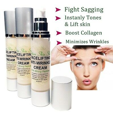 Facelifting and Anti-Wrinkle Cream, Skin tightening, firming and sagging prevent
