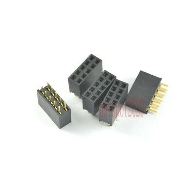 50pcs 2.54mm Pitch 2X5 10 Pin Female Double Row Straight Header Socket Connector