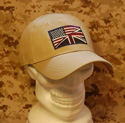 US/UK Friendship Cap S/M UKSF USSF USMC Marines MARSOC Helmand Tactical Ball Cap