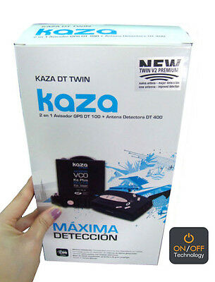 Detector y avisador de radares NUEVO KAZA TWIN V2 PREMIUM  On/Off