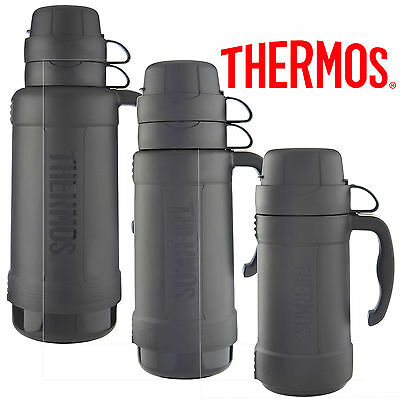 Thermos Eclipse Glass Vacuum Flask 1.8L, 1.0L, 0.5L Black