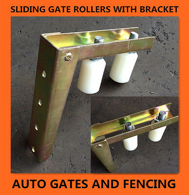 Sliding Gate- L Shape Bracket with Nylon top Rollers/Guide Wheels