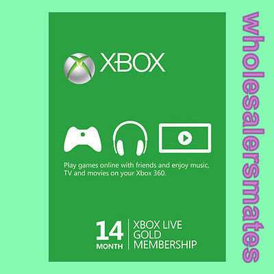 14 Months Xbox Live 12 +2 Month Membership Card for 360 or One AU -FAST DISPATCH