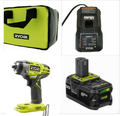RYOBI P263 18V 3/8 in. 3-Speed Cordless Impact Wrench W/3.0Ah Battery & Bag NEW