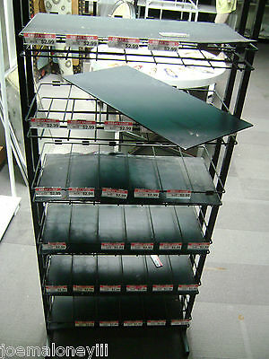 Retail Display Black Metal Merchandise Shelving Unit