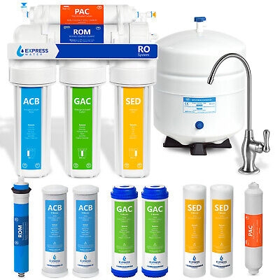 Reverse Osmosis Water Filter System Filtration Drinking Home One Year Warranty