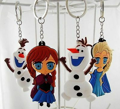 Disney Princess Frozen Elsa Anna Olaf Snowman Key Chain Key Ring Toy NIP HTF USA