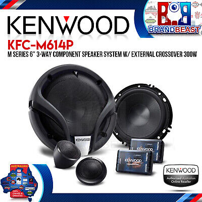 """Kenwood KFC-M614P 6"""" 300W 3 Way Component Speaker with External Crossover"""