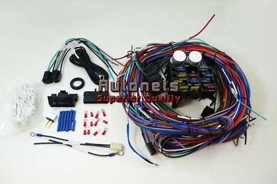12 circuit universal wire harness 12 fuse 12v street hot rat universal chevy gm 12 circuit wire harness kit street hot rat rod