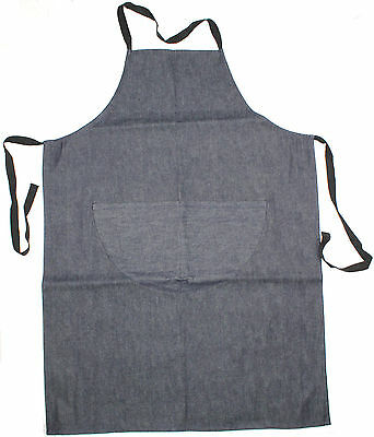 Denim Apron with Pocket Woodwork Metalwork Cooking Bar Kitchen Brand New!