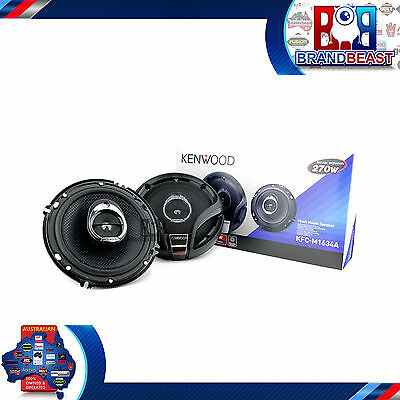 "KENWOOD KFC-M1634A 6.5"" 270W CAR AUDIO STEREO 3 WAY COAX SPEAKERS SYSTEM 160mm"