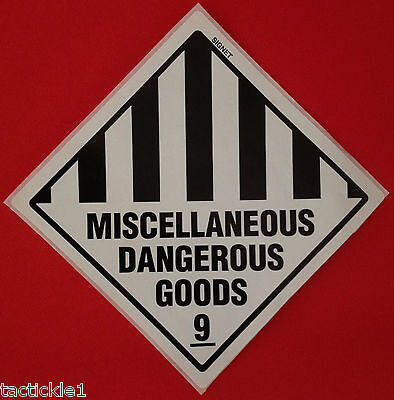 Miscellaneous Dangerous Goods 9 Shipping Stickers Labels. 100mm x 100mm. Qty 950
