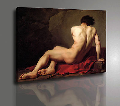 Jacques Louis David Patrocle Quadro Stampa Su Tela Vernice A Pennello Quadri