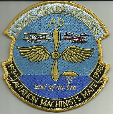 US COAST GUARD Aviation Machinist's Mate 1934-1998 Military Patch END OF AN ERA