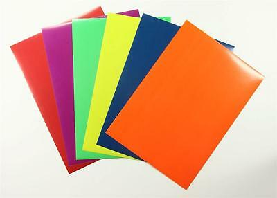 A4 Coloured Craft Paper Peel & Stick 12 Sheets 6 Colours Adhesive Art