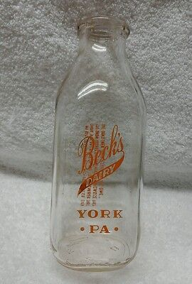 Becks Dairy York PA. Has a Neat Proverb on the back. Made by Duraglas
