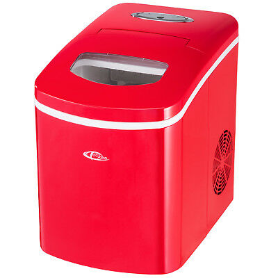 Brand New Ice Cube Maker Machine for Drinks Cocktails Bars Red