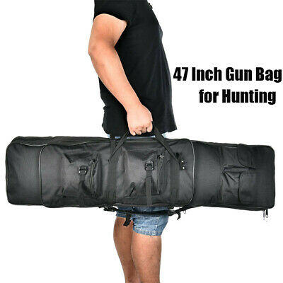 "47"" Long 600D Soft Padded Gun Case Tactical AR Hunting Bag Rifle Fishing Bag"