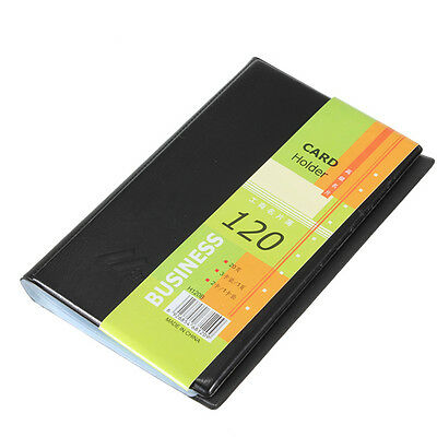 Leatherette 120 Business Name Card Holder Book Wallet Cover Case Pouch Folder