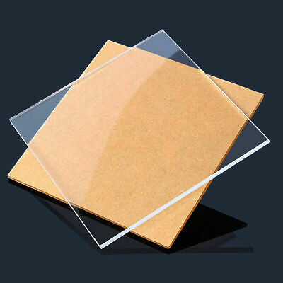 2pcs CLEAR ACRYLIC SHEET TRANSPARENT PMMA PANEL PLATE 100mm * 100mm * 3mm