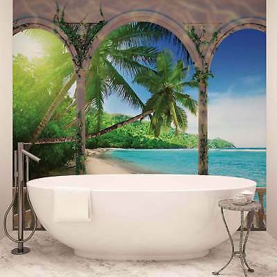 WALL MURAL PHOTO WALLPAPER PICTURE (1078VEVE) Arches Tropical Beach Sea