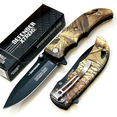 "7"" Desert Camo Tactical Combat Spring Assisted Open Pocket Knife Hunting 7674-"
