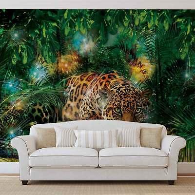 WALL MURAL PHOTO WALLPAPER PICTURE (1333P) Jungle Forest Leopard