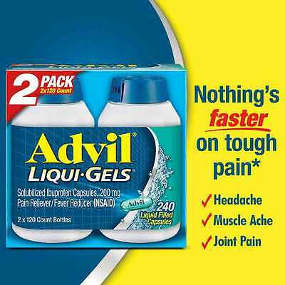 Advil Liqui-Gels Solubilized Ibuprofen Capsules 200 mg Pain/Fever Reliever 240ct