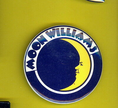 Moon Williams 1978 uk pinback button badge S