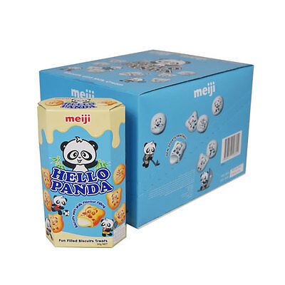Hello Panda Milk Flavour Filling Biscuits - 10 X 50G