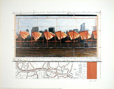 Javacheff Christo-The Gates Project, X, New York-2003 Offset Lithograph-SIGNED