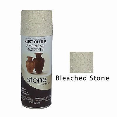 Rust-Oleum American Accents Stone Textured Spray Paint Vases Pots Bleached Stone