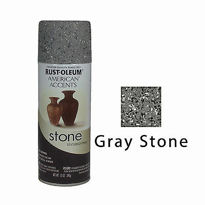 Rust-Oleum American Accents Stone Textured Spray Paint Vases Pots Gray Stone