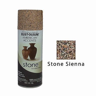 Rust-Oleum American Accents Stone Textured Spray Paint Vases Pots Stone Sienna