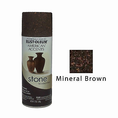 Rust-Oleum American Accents Stone Textured Spray Paint Vases Pots Mineral Brown