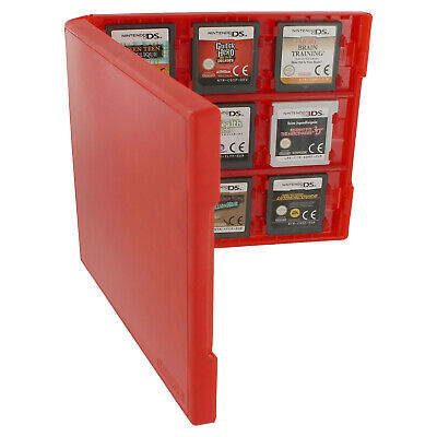Assecure 18 game card case for Nintendo 3DS & DS holder storage travel box red