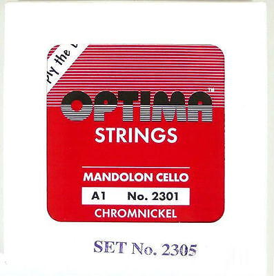 Optima Mandocello strings- chromenickel polished - 4 pieces in one set