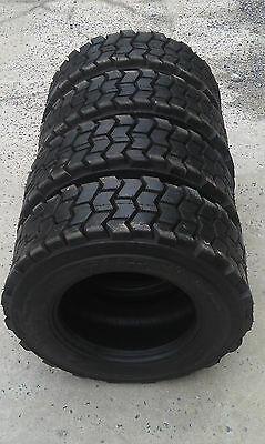 4 - 10X16.5 Skid Steer Tires 10-16.5 - 10 ply rating-HEAVY DUTY, non directional
