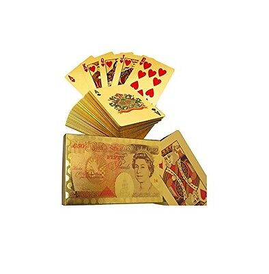 100USD Edition 24K White Gold Plated Playing Cards Poker Deck 99.9/% Pure Gold