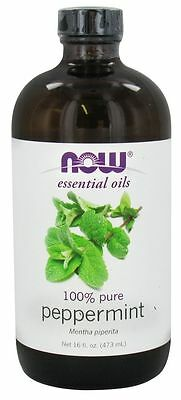 Now Foods 100% Pure Essential Peppermint Oil 16oz Fresh Repels Mice Mouse & Mold