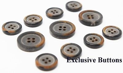 "Coats Etc Dresses 6  Real Horn Buttons 1-1//4/"" Black #325"
