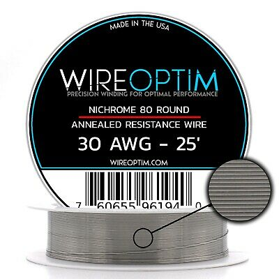 Nichrome 30 Gauge AWG Wire 25ft Roll .254mm , 6.76 Ohms/ft Resistance