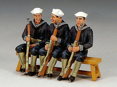 King and (&) Country USN013 - Three-Sitting Sailor - Retired