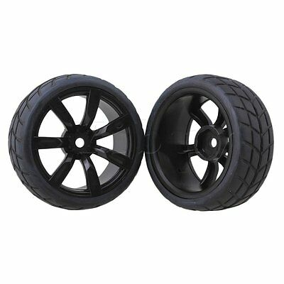 4PCS Rubber Tires With 7-Spoke Plastic Wheel Rims For RC1:10 On-Road Racing Car