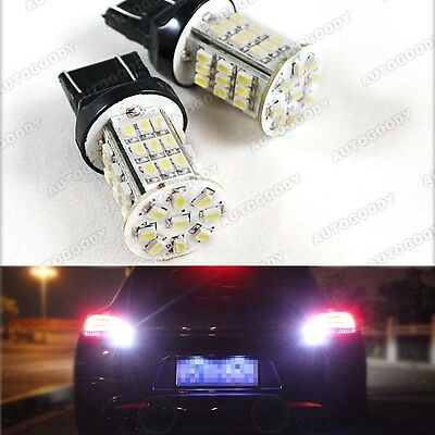 2 x Xenon White LED 360° Backup Reverse Light Bulbs 45-SMD 7440 7444