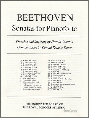 Beethoven Sonata in A Flat Major Op. 110 ABRSM Piano Sheet Music Book