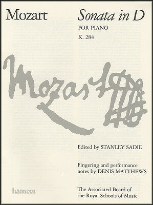 Mozart Sonata in D for Piano K284 ABRSM Piano Sheet Music Book