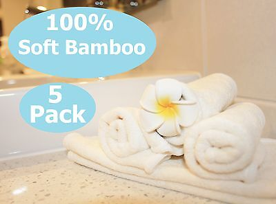 5 x Soft Bamboo Organic Baby Flannel Face Bath Washcloth Washer Wipes BURPY BIB