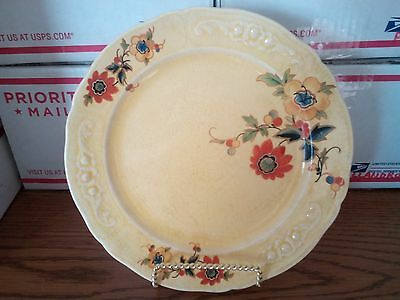 "EDWIN M KNOWLES MARYLAND SHAPE ROMA GLAZE FLORAL DECAL (9.75""in) PLATE 1920-1930"